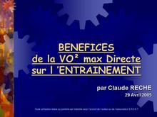 CLAUDE RECHE - Benefices VOs max directe